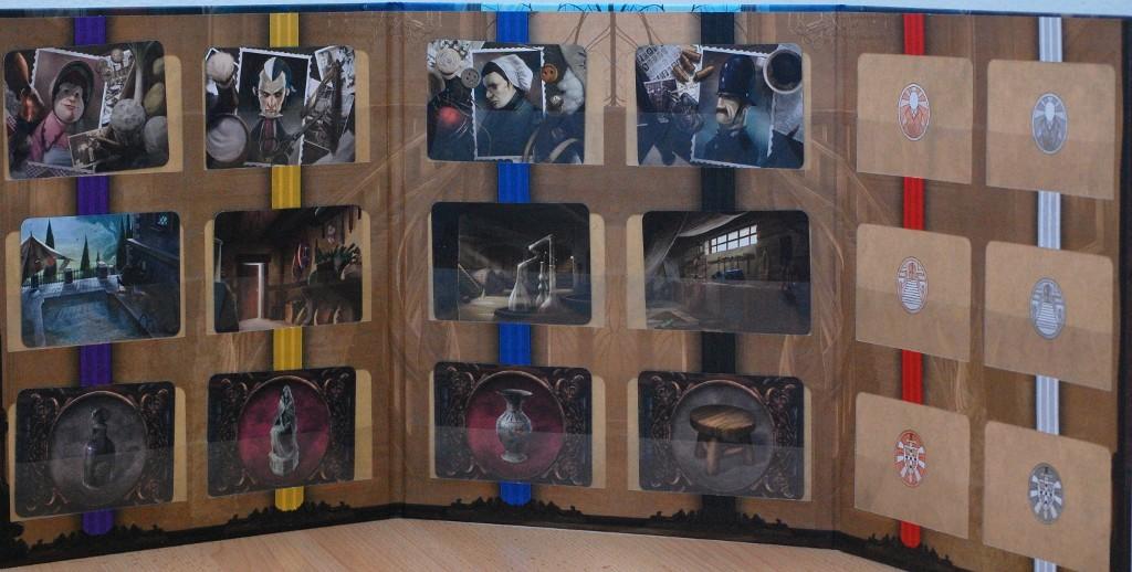 [Mysterium] Una delle principali differenze di Mysterium è l'introduzione dello schermo del fantasma. La seconda edizione di Il sesto senso si è adeguata a questa importante miglioria.