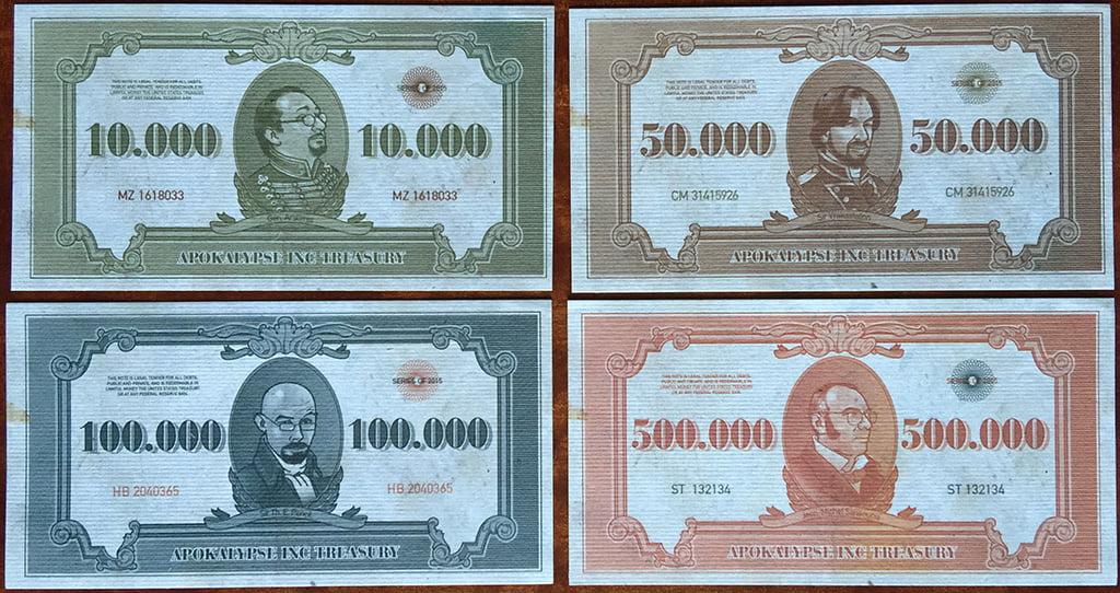 Le banconote, per quanto inaccurate storicamente, sono tattilmente appaganti!