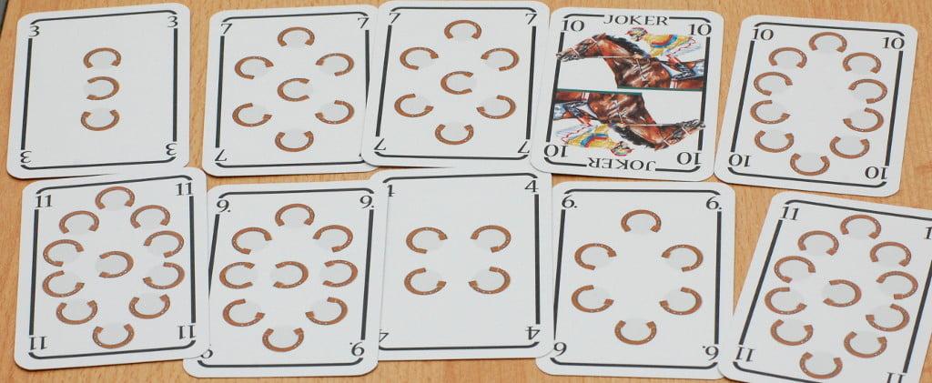 Una mano di 10 carte non particolarmente brillante: questa corsa si lotta per un buon piazzamento ma nulla più (ma mai dire mai...))