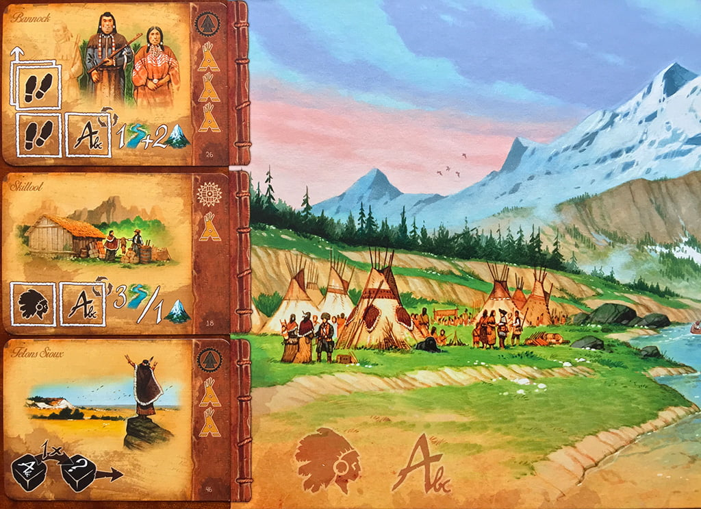 Le 3 carte tribù disponibili si trovano, invece, a sinistra della plancia: notate le 2 diverse icone