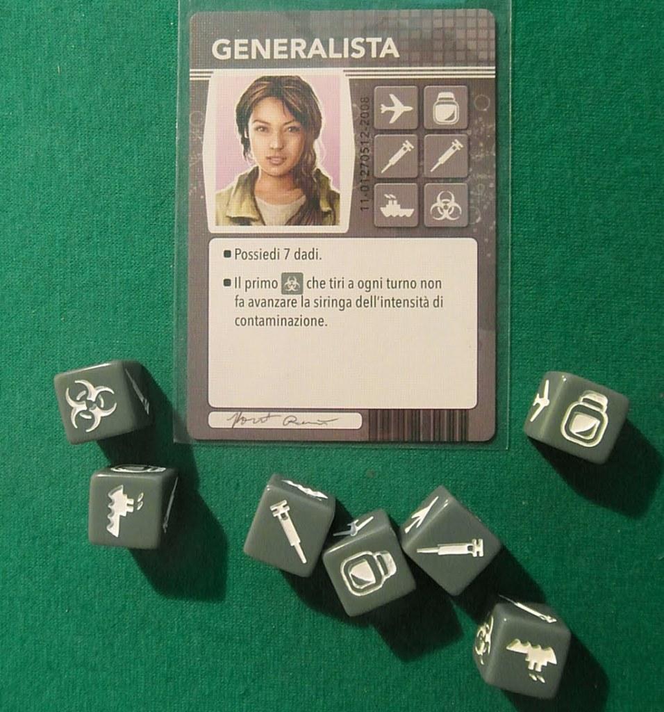 La nostra amica Generalista con i suoi sette dadi... e con un'abilità da non disprezzare.