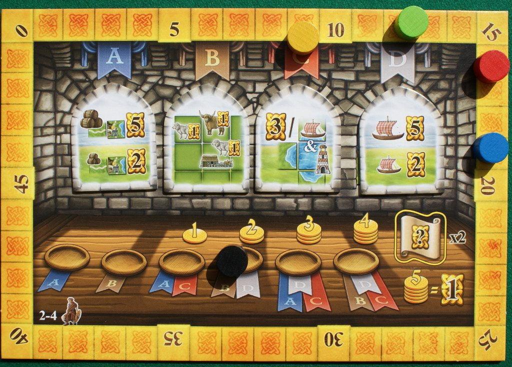 Il tabellone girato sul lato per 2-4 giocatori