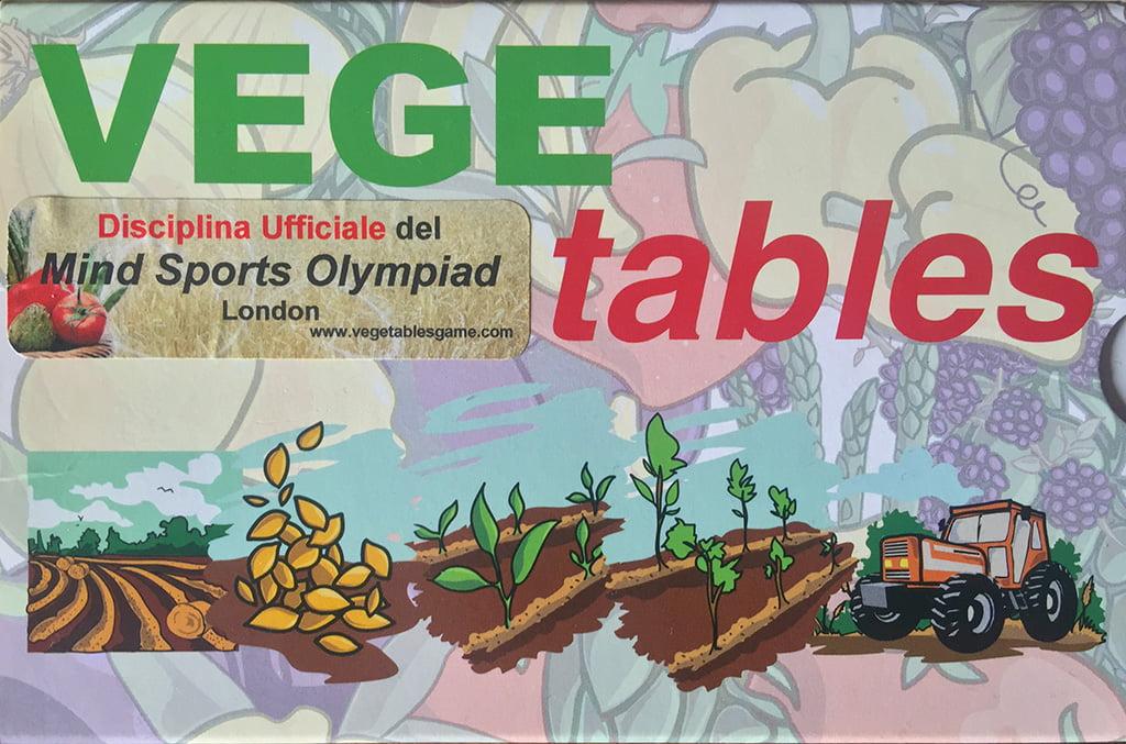 La copertina di Vege Tables, in cui invece campeggia il logo relativo all'inserimento del gioco