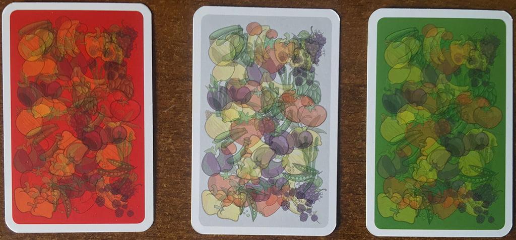 Anche i dorsi delle carte di Vege Tables sono a tema agricolo-bucolico...