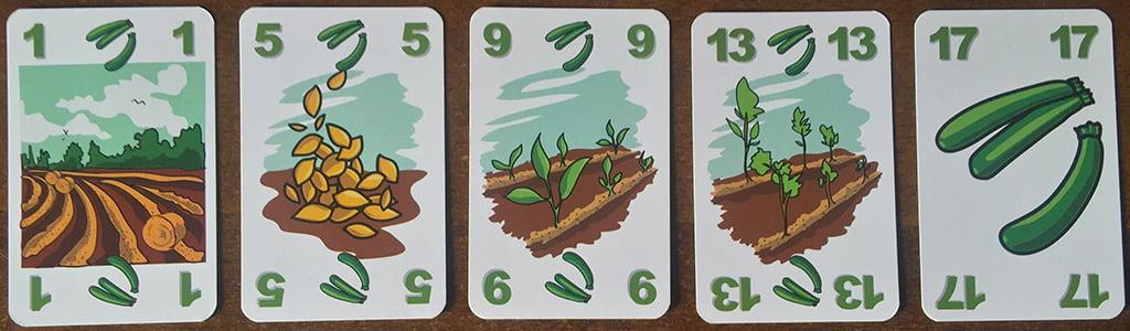 Un esempio di serie numerica (a base di zucchine...) che bisogna completare per finire la partita.