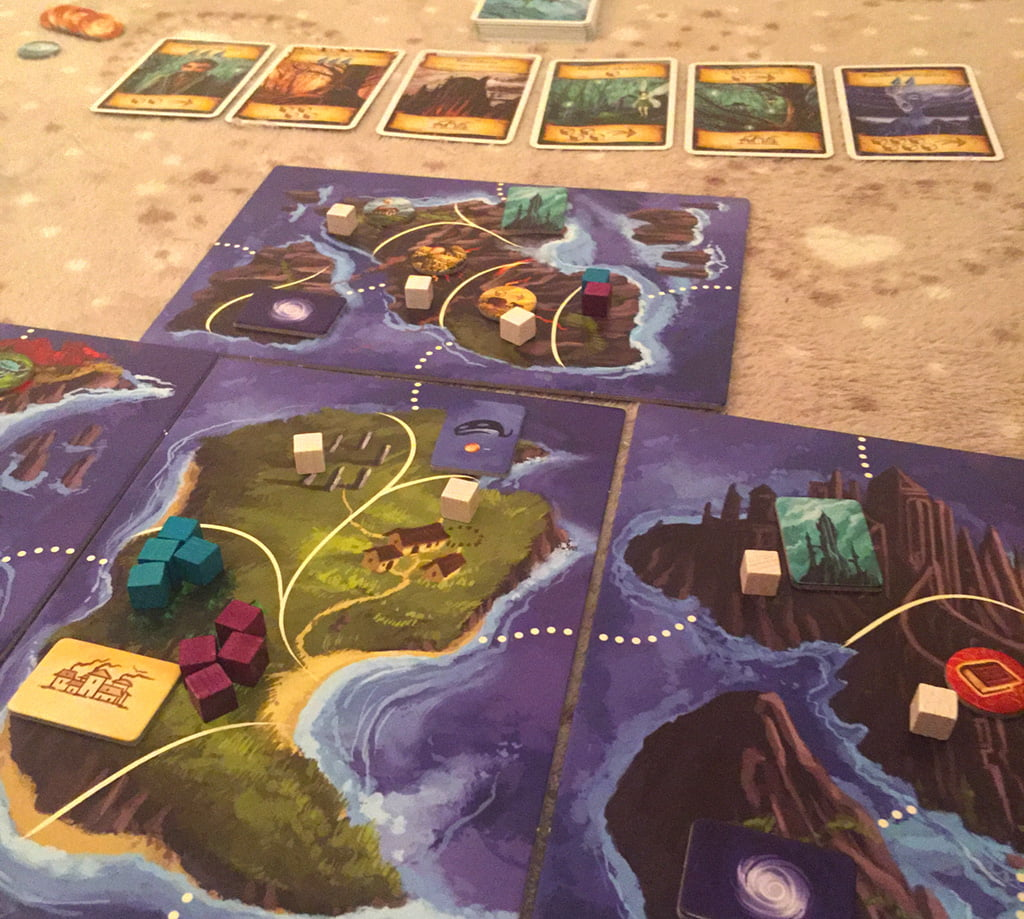 Il setup è completato: in questo caso, sono state utilizzate tutte le varianti incluse nel gioco.