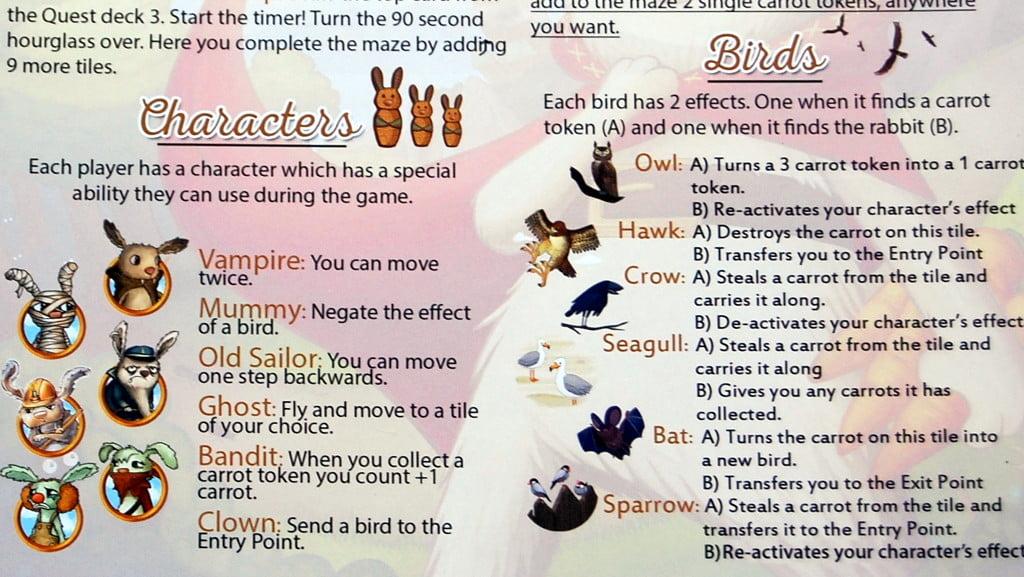 Il gioco prevede l'utilizzo di qualche tabella. Semplice semplice...