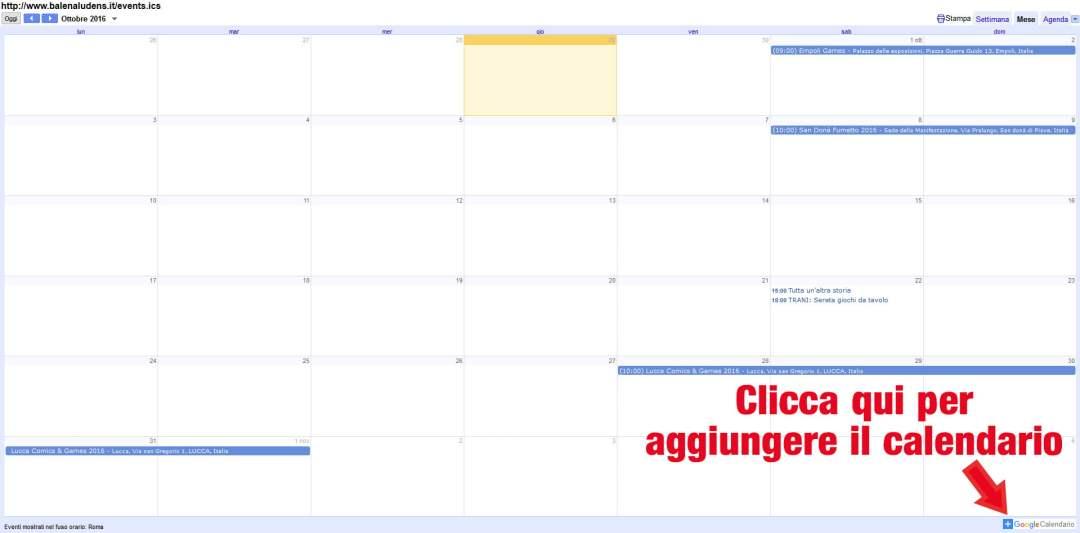 Milanoguida Calendario.Eventi Ludici In Italia Balena Ludens