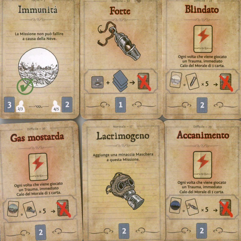 Le carte missioni (2):