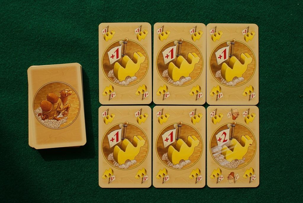 Le carte gara del cammello giallo