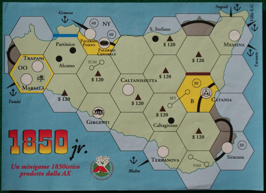 1850 jr : la mappa