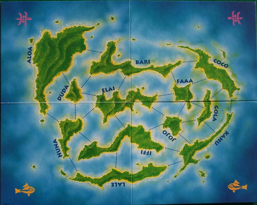 Il tabellone con tutte le isole