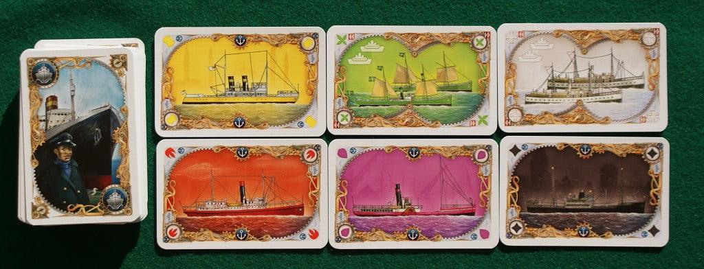 """Alcune delle carte """"nave"""""""