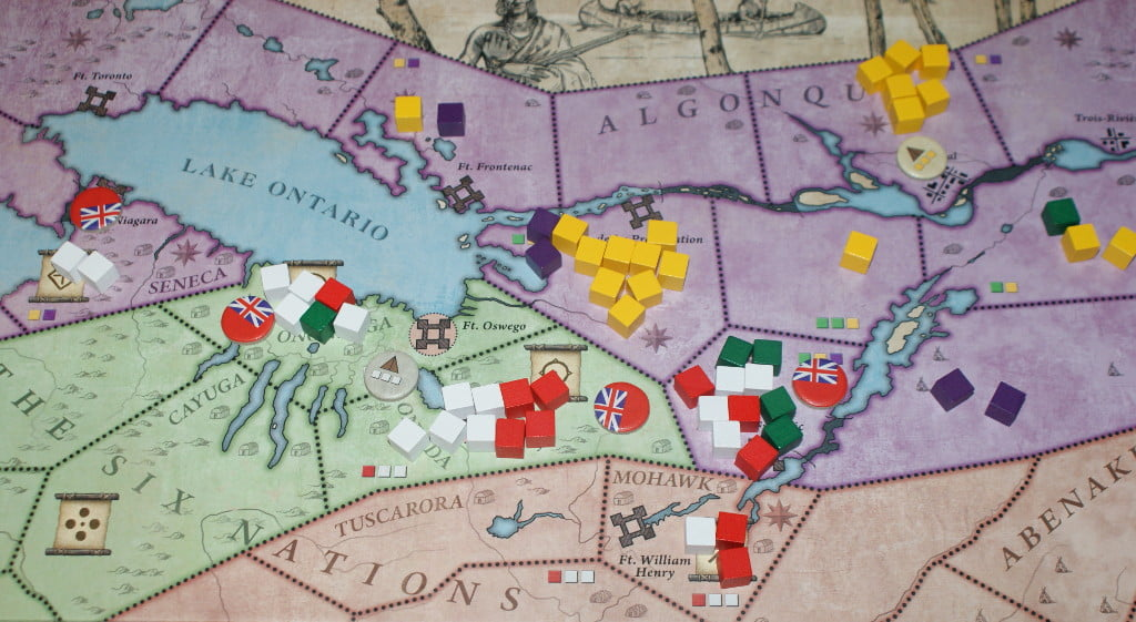 I combattimenti vicino al lago Ontario