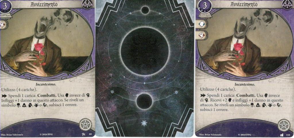 Alcune carte sono identiche ma cambiano di livello.