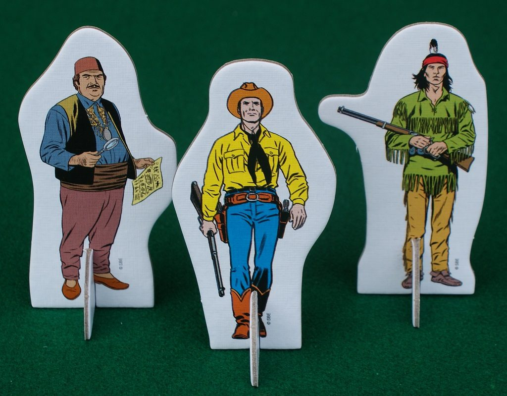 I personaggi della Legge con Tex in primo piano