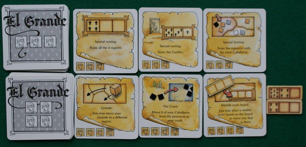 Le carte Azione dei mazzetti III e IV