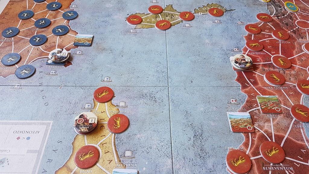 Uno scorcio della mappa con città eserciti e tribù