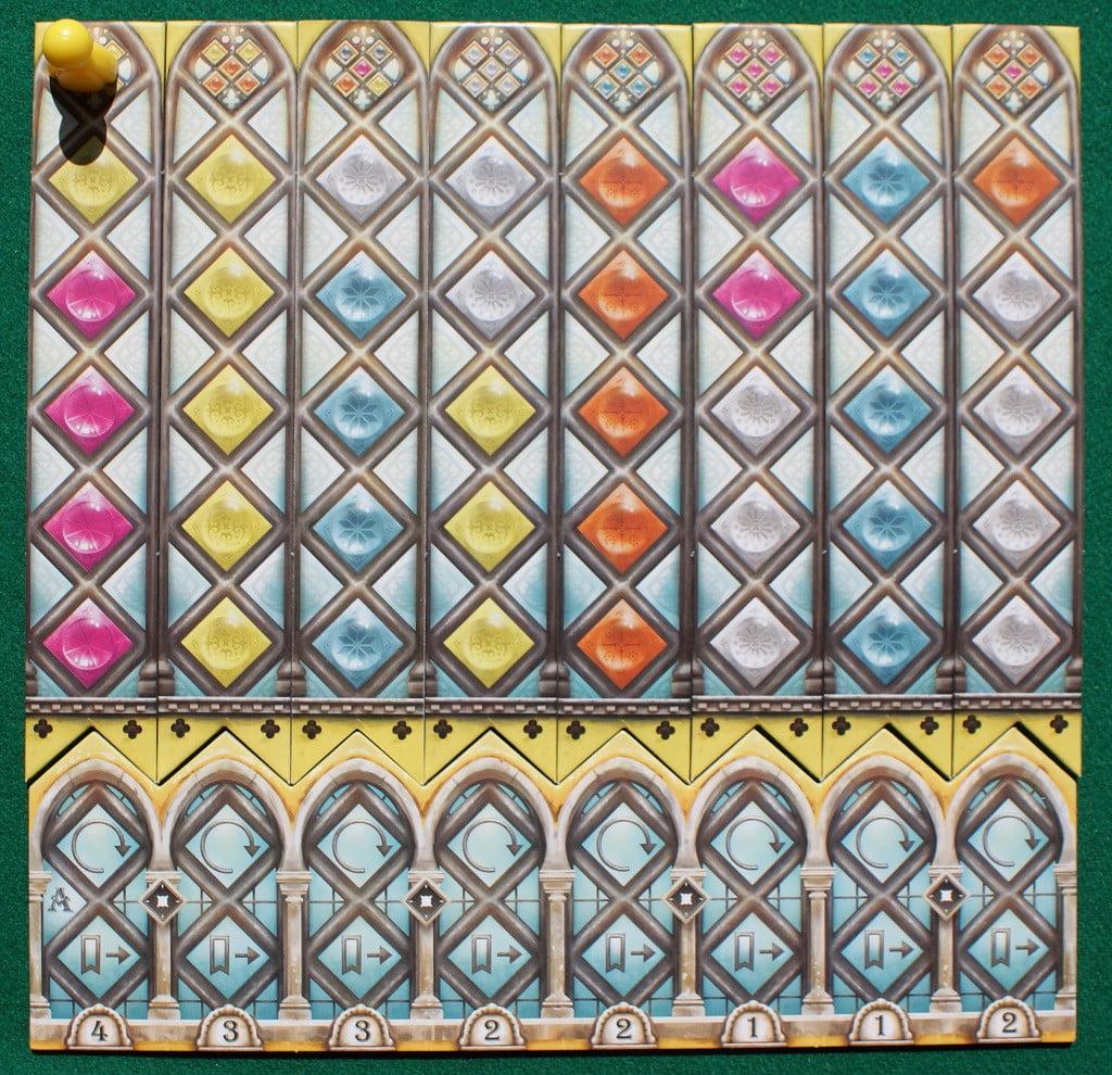 La plancia personale del giocatore giallo all'inizio della partita
