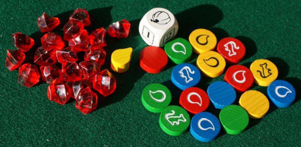 """dettaglio dei rubini e dei """"marcatori"""" per i giocatori."""