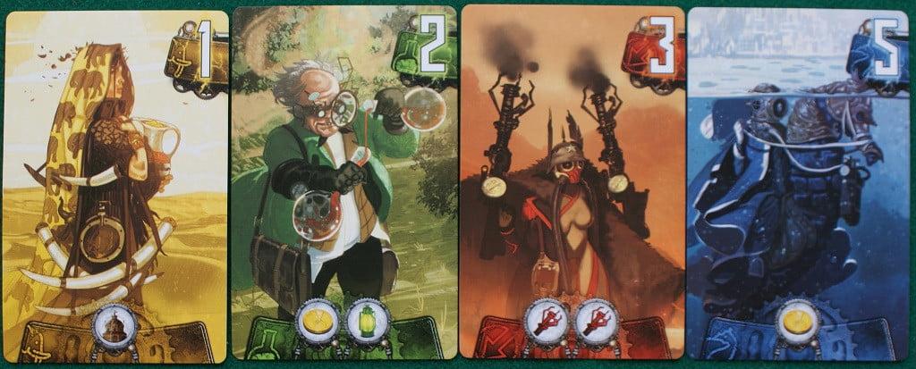 Alcune carte Catalyst di colore diverso