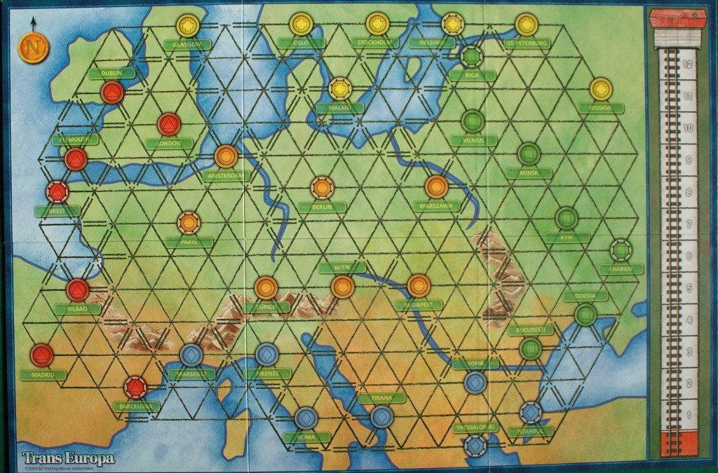 Il vecchio tabellone di Trans Europa