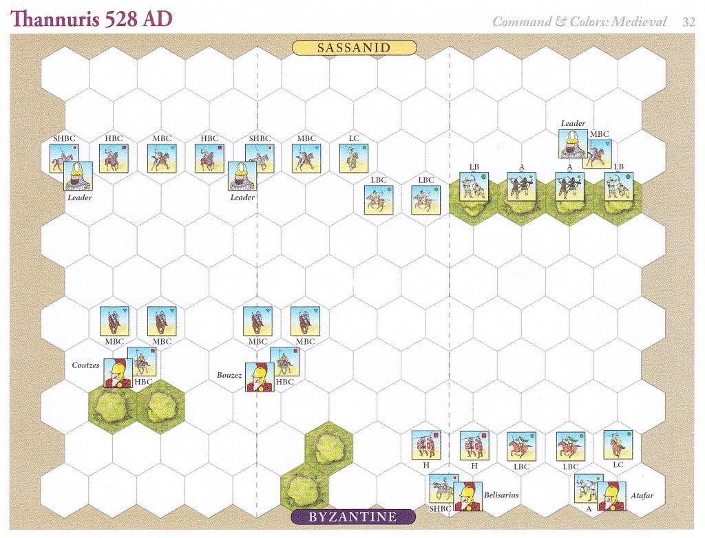 Uno scenario del gioco: la battaglia di Thannuris