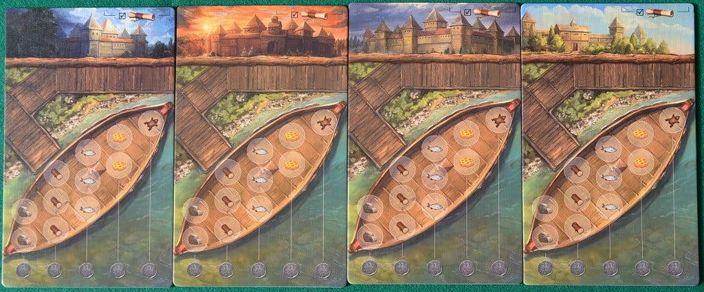 Le plance personali, a forma di barca, e con caselle specifiche per le singole merci