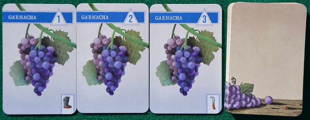 Alcune carte uva con i simboli delle attrezzature