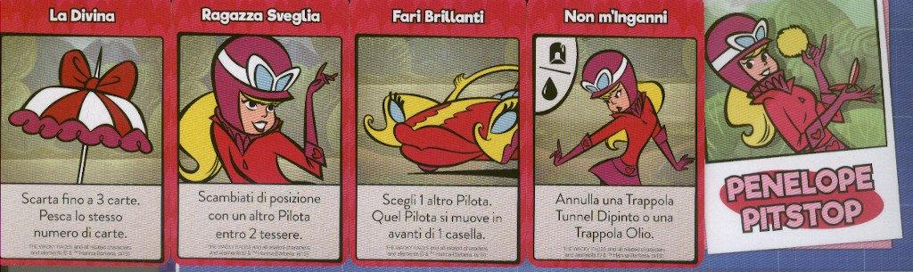Le carte abilità di Penelope Pitstop