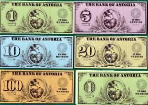 le banconote usate nel gioco