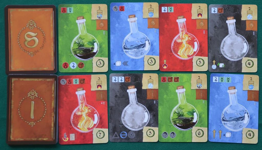 Alcune delle carte Esperimento