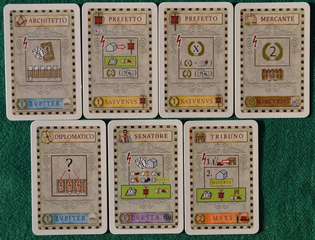 Le carte del giocatore.