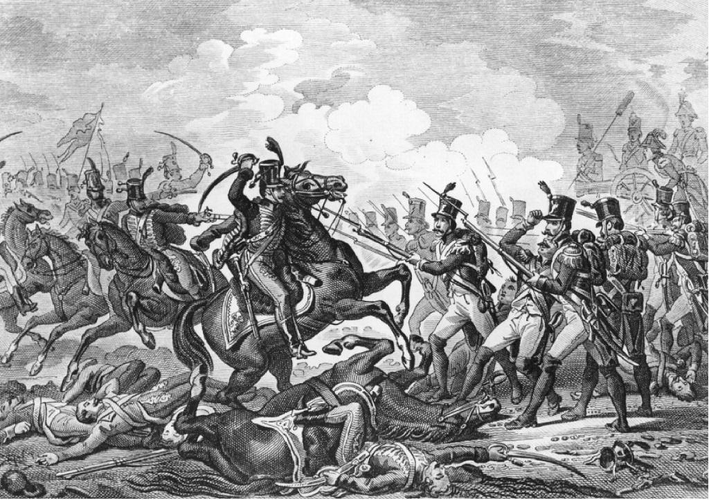 Litografia della battaglia
