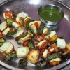 Recipe for Paneer, Tomatoes and Bell Pepper roasted on Spits - 23 Jan 16