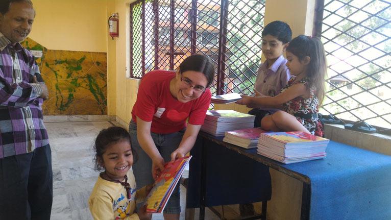 New Workbooks for our smallest School Children – 22 Oct 16