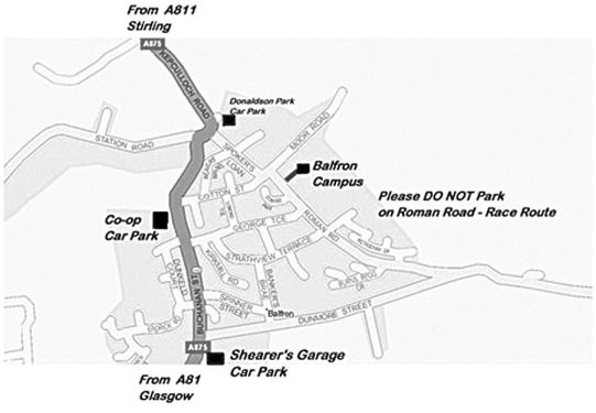 Balfron parking map