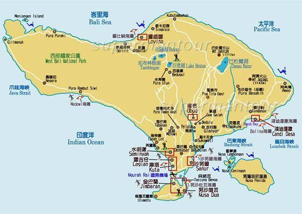 峇里島旅遊度假攻略 - 峇里島區域