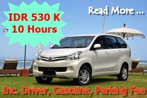 Bali Car Charter With Driver - Avanza or Xenia - Promo 270417