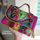 Clutch wanita multicolor