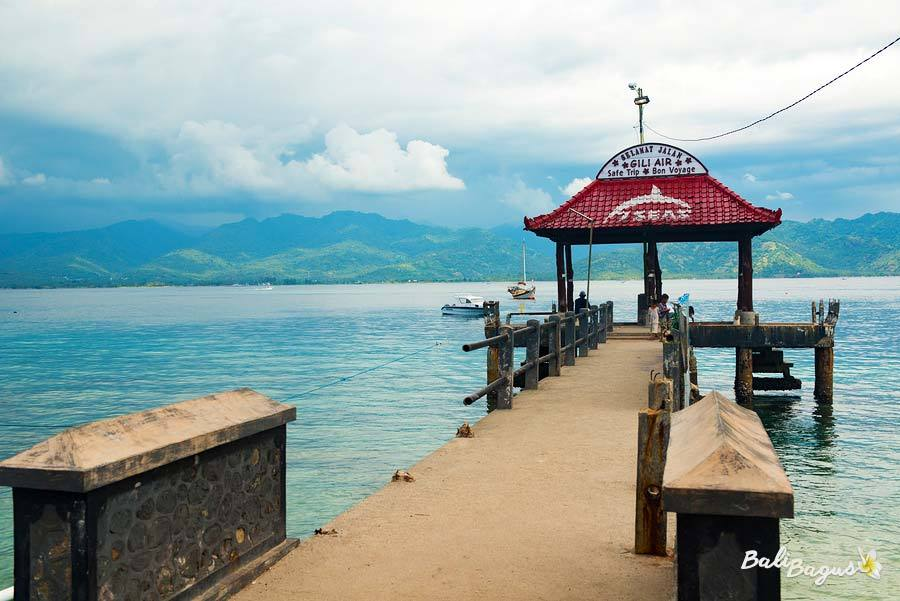 Attracco Fast Boat a Gili Air