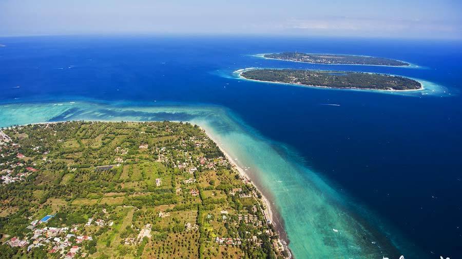 isole Gili dall'aereo