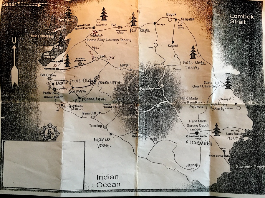 Nusa Penida mappa