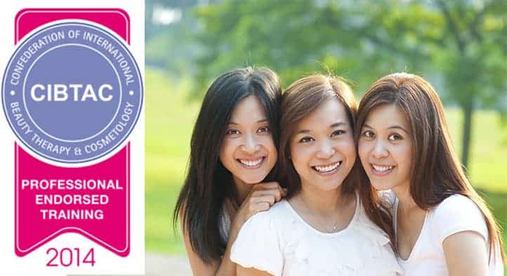 CIBTAC Endorsed Training logo beside three smiling students