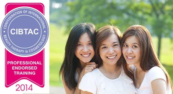 CIBTAC Endorsed Training logo beside three smiling students
