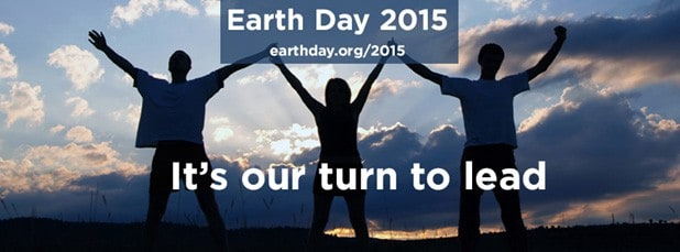 Poster for Earth Day 2015 - Young People saying Its Our Turn to Lead
