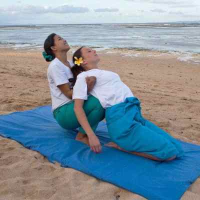 The Thai Massage training class using Herbal Packs at the Bali International Spa Academy (BISA) teaches international students how to press muscles and balance energy levels.