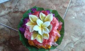 Balinese Flower for client during lay on the bed