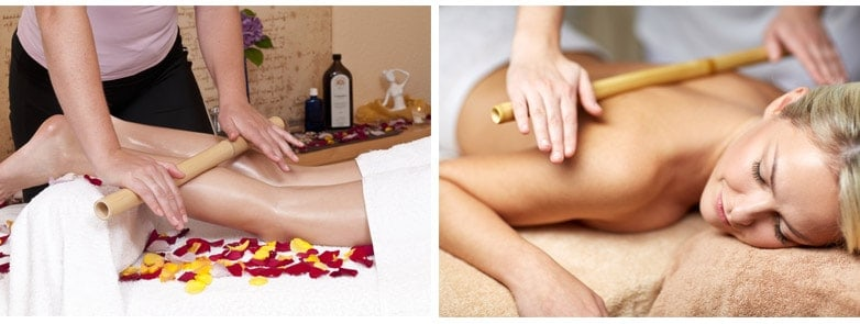 Bamboo Massage is good for muscle pain especially for women