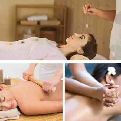 Bamboo massage and Hawaiian Lomi Lomi course for massage, plus holistic Crystal Healing package combines all three holistic spa and wellness skills into one 15 day discounted program.